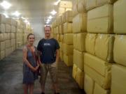 Nous chez notre producteur d'houblon alsacien