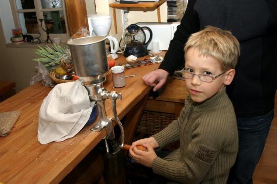 Notre premier moulin à malt :)